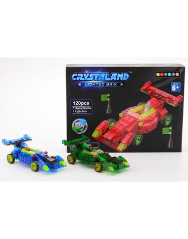 Crystaland - Klocki świecące LED auto wyścigowe