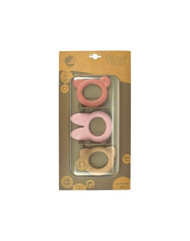 Dantoy - BIO TINY gryzaki pink zestaw 3 szt.