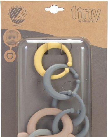 Dantoy - BIO TINY łańcuch gryzak activity sand grey