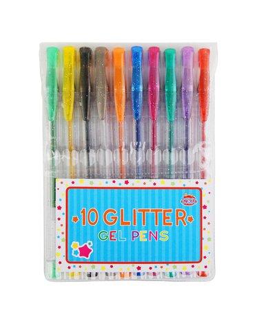 Buddy  & Barney - Długopisy żelowe - brokatowe