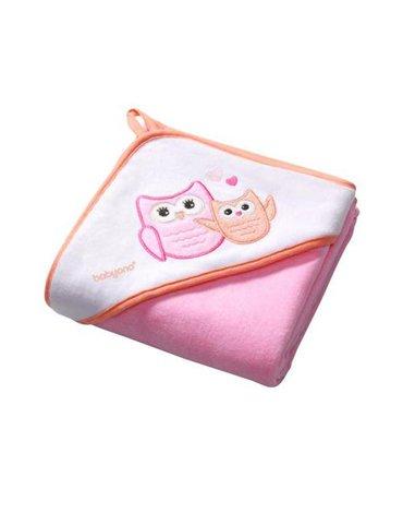 BABYONO - 138/01 Okrycie kąpielowe 100% bawełna, welur - ręcznik z kapturkiem 100x100cm