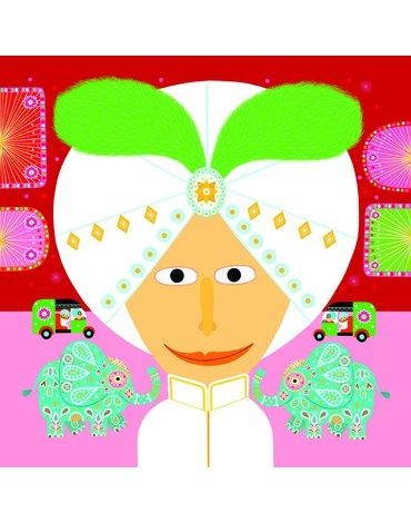 Djeco - Zestaw art. z naklejk. dla maluchów TWARZE DJ08934