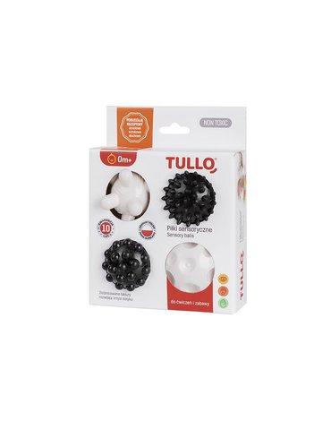 Tullo - Piłeczki sensoryczne czarno-białe 4 szt