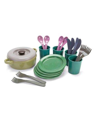 Dantoy - GREEN BEAN Zestaw obiadowy z recyklingu