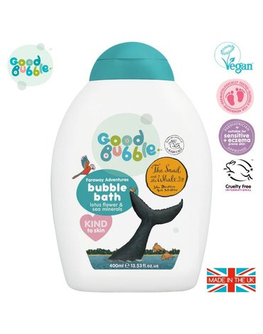 Good Bubble The Snail & The Whale Organiczny płyn do kąpieli Noworodka i Niemowlaka Lotus Flower and Sea Mineral 400 ml