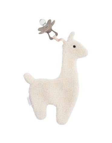 Jollein - Baby & Kids - Jollein - Przytulanka dou dou z zawieszką na smoczek Lama White