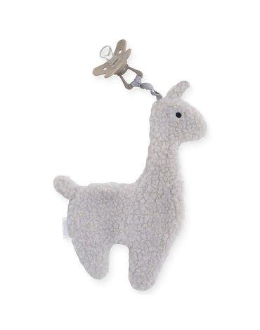 Jollein - Baby & Kids - Jollein - Przytulanka dou dou z zawieszką na smoczek Lama Grey