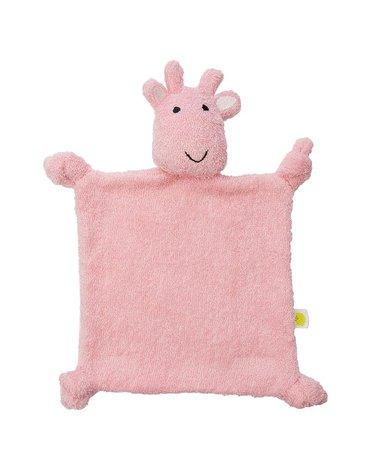 Jollein - Baby & Kids - Jollein - przytulanka doudou do usypiania Giraffe Candy Pink