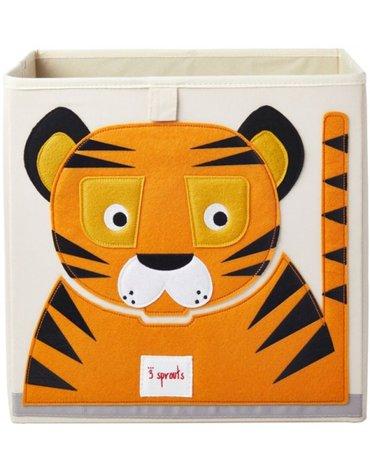 3 Sprouts Pudełko na Zabawki Tygrys Orange