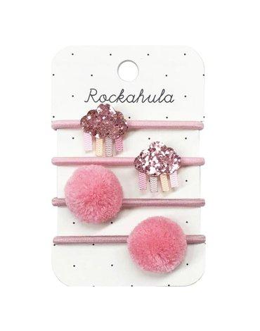 Rockahula Kids - gumki do włosów Rainbow Cloud Glitter Pink