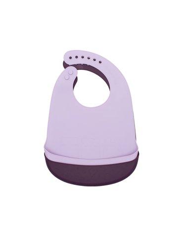 Zestaw śliniaków silikonowych z kieszonką We Might Be Tiny - Plum + Lilac