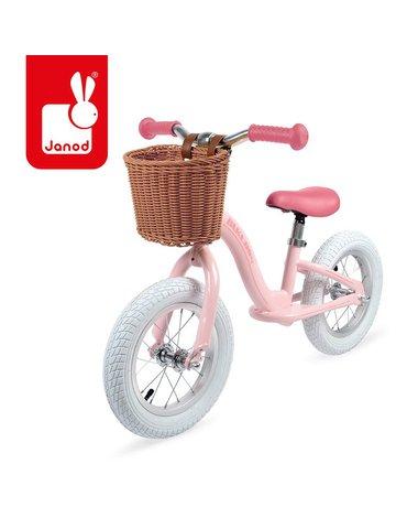 Metalowy rowerek biegowy Bikloon Vintage 3+ różowy, Janod