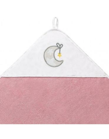 BABYONO - 142/11 Okrycie kąpielowe frotte - ręcznik z kapturkiem 100x100cm