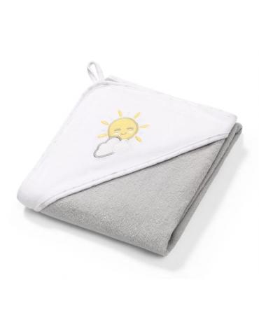 BABYONO - 142/08 Okrycie kąpielowe frotte - ręcznik z kapturkiem 100x100cm