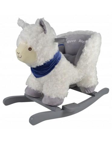 Przytul i kochaj - Bujak lama z fotelikiem na biegunach