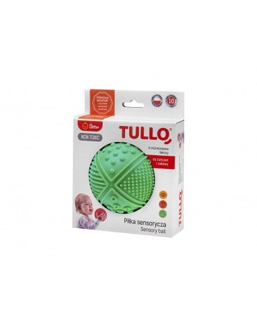 Tullo - Piłeczka sensoryczna 4 faktury 3 kolory