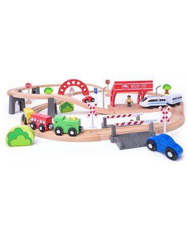 Woody - Kolejka z elektryczną lokomotywą