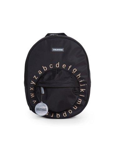 Childhome Plecak dziecięcy ABC Czarno-złoty