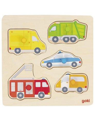 Goki® - Układanka Goki pojazdy