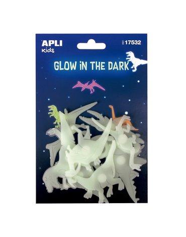 Fluorescencyjne naklejki Apli Kids - Dinozaury 9 sztuk