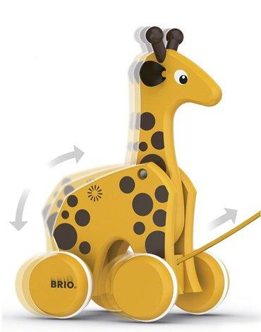 BRIO Zabawka do Ciągnięcia Żyrafa