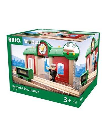 BRIO World Stacja Kolejowa z Nagrywarką