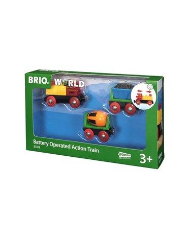 BRIO World Pociąg na Baterie z Betoniarką