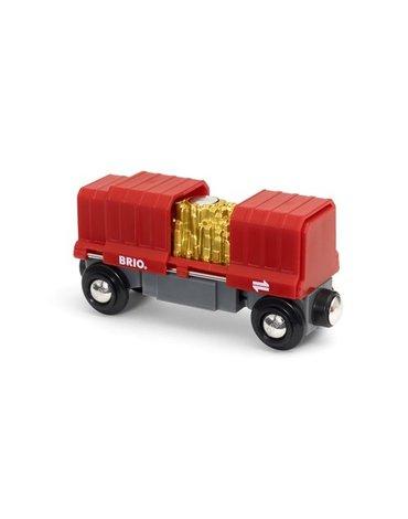 BRIO World Wagon Towarowy ze Złotem