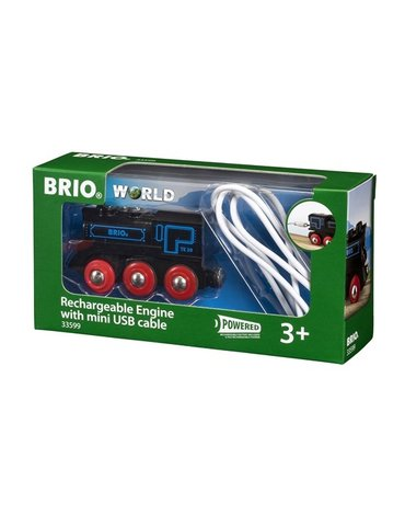 BRIO World Czarna Lokomotywa z Mini USB