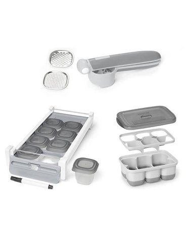 Skip Hop - Zestaw praska + pojemniki na żywność Prep & Store