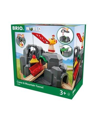 BRIO World Tunel Górski z Dźwigiem