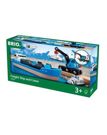 BRIO World Statek Kontenerowy z Dźwigiem