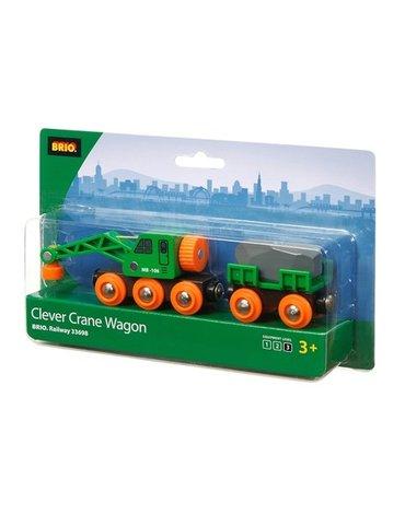BRIO World Kolejowy Wagon Dźwigowy