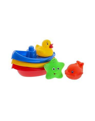 Tullo - Łódeczki ze zwierzątkami do kąpieli 6szt