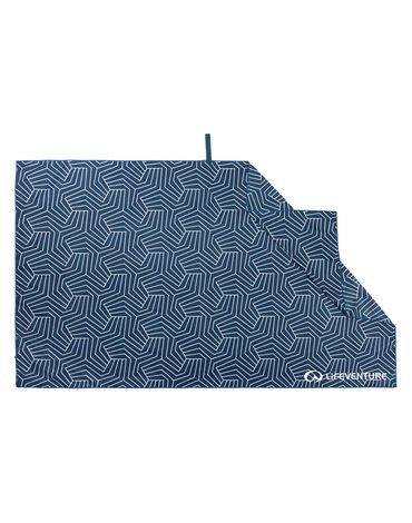 LittleLife - Ręcznik szybkoschnący SoftFibre Recycled Lifeventure - Navy 150x90 cm