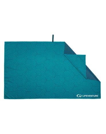 LittleLife - Ręcznik szybkoschnący SoftFibre Recycled Lifeventure - Teal 150x90 cm