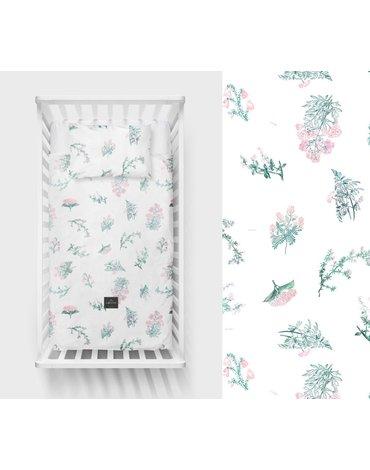LullaLove, Bawełniana pościel Zielnik róż 100x135 cm