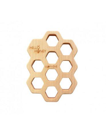 LullaLove, Mydelniczka - podstawka z drewna Hello Honey