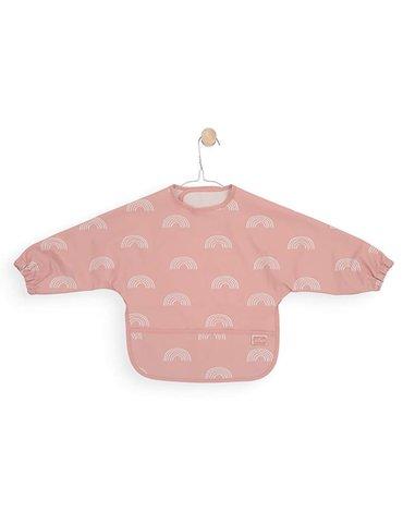 Jollein - Baby & Kids - Jollein - Śliniak fartuszkowy wodoodporny z kieszonką Tęcza Rainbow Blush Pink
