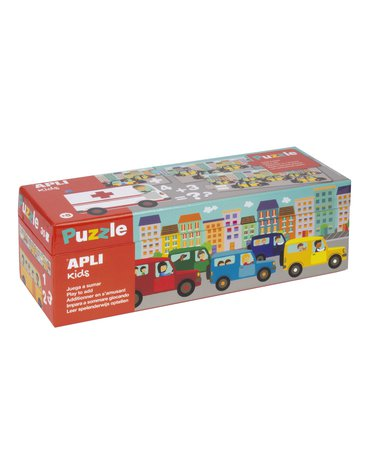 Puzzle do nauki dodawania Apli Kids - Autka 5+