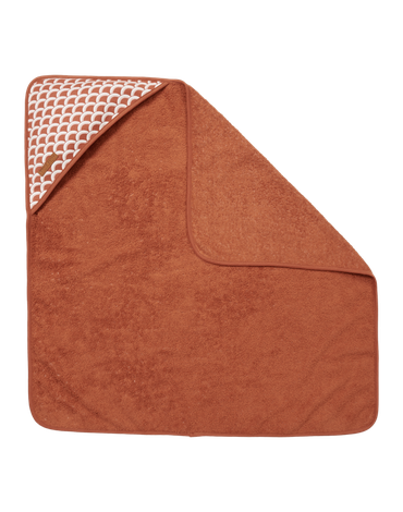 Little Dutch Bawełniany ręcznik Sunrise Rust TE50620761