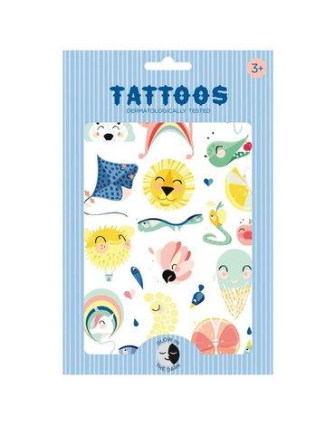 Petit Monkey - Tatuaże świecące w ciemności Tattoo Jungle Shiny Lion