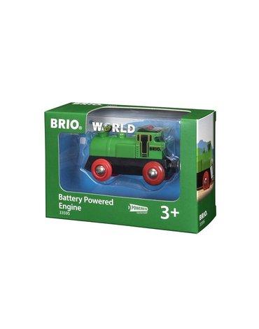 BRIO World Lokomotywa na Baterie Zielona