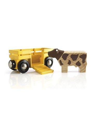 BRIO World Wagon z Krową