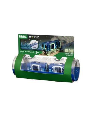 BRIO Metro Świecące w Ciemności z Tunelem