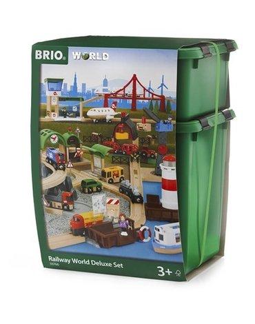 BRIO World Zestaw Kolejki Drewnianej Delux