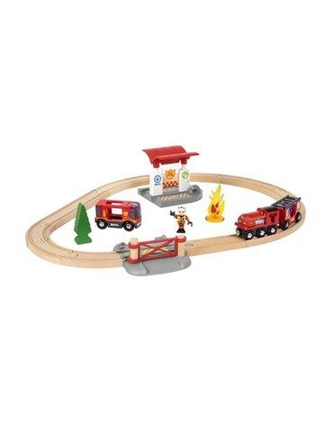BRIO World Zestaw Kolejka Straż Pożarna