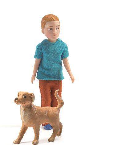 Djeco - Figurki  Xavier z psem  DJ07807