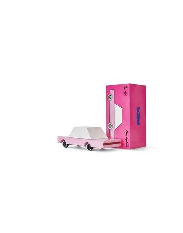 Candylab Drewniany Samochód Sedan Pink