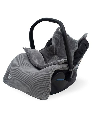 Jollein - Baby & Kids - Jollein - Śpiworek oddychający do wózka i fotelika Basic Knit STORM GREY